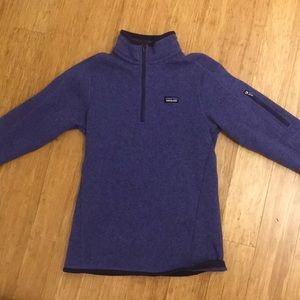 Patagonia purple fleece